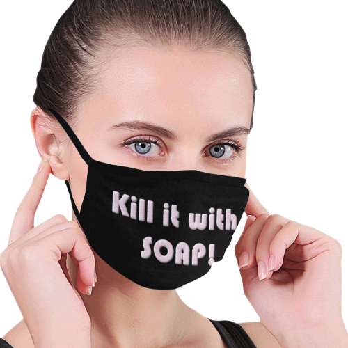 Kill it with SOAP light pink Mouth Mask