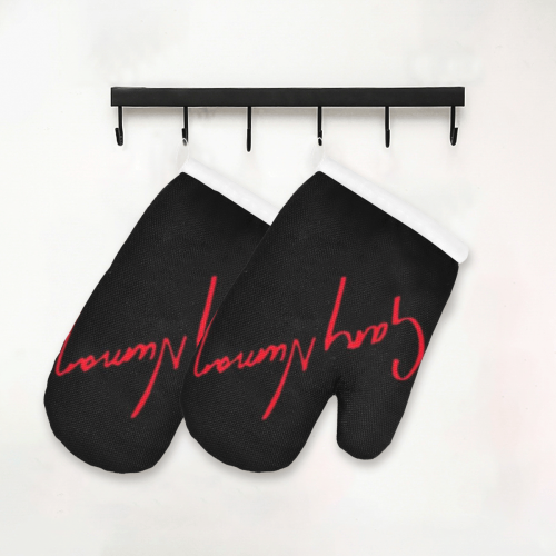 Gary Numan oven gloves Oven Mitt (Two Pieces)