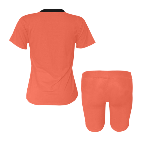 color tomato Women's Short Yoga Set (Sets 03)