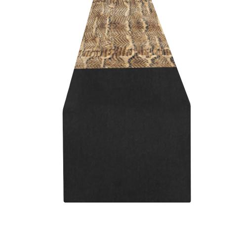 Golden Python On Black Table Runner 16x72 inch