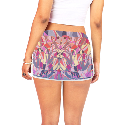 Summer Sunset Abstract * Purple Women's All Over Print Relaxed Shorts (Model L19)