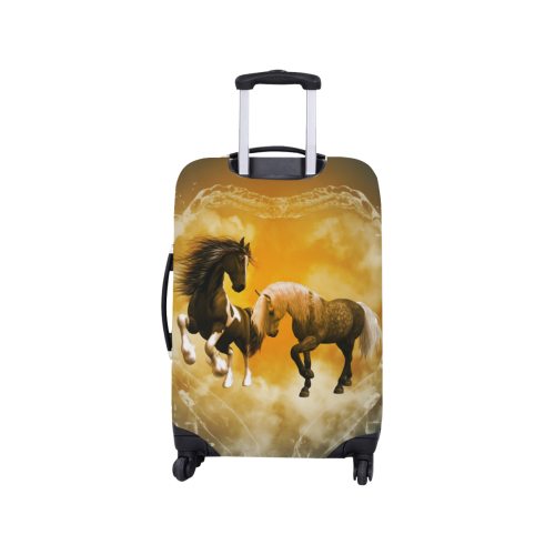 """Horses with heart made of water Luggage Cover/Small 18""""-21"""""""