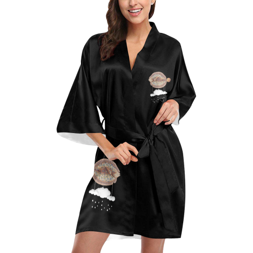 The Cloud Fish Surreal Kimono Robe
