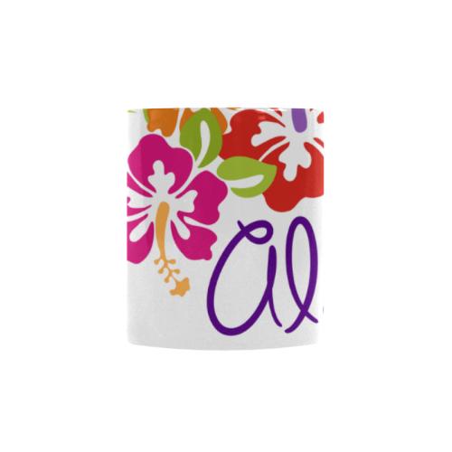 Tropical Aloha Hibiscus Blossoms Bouquet Custom Morphing Mug (11oz)