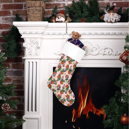fiola pattern pink Christmas Stocking