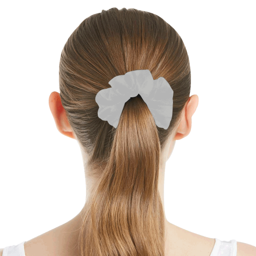 color silver All Over Print Hair Scrunchie