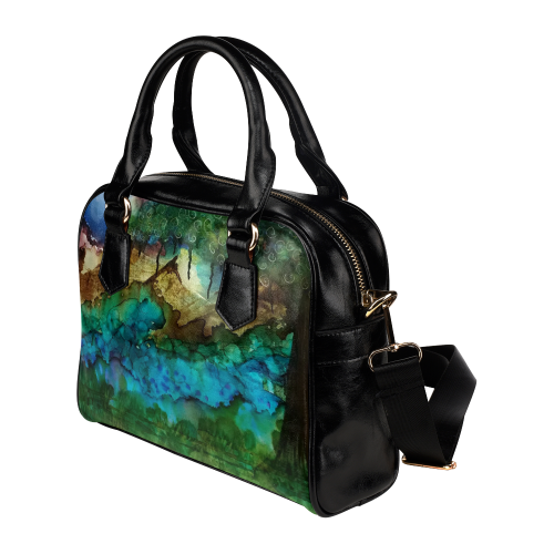 Nightscape#1 Shoulder Handbag (Model 1634)