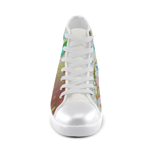 gotta catch 'em all high top Women's High Top Canvas Shoes (Model 002)