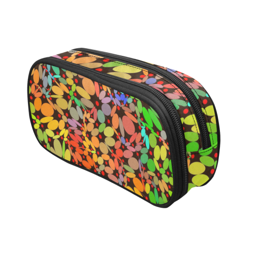 Power Flowers 318B by JamColors Pencil Pouch/Large (Model 1680)