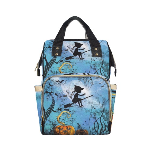 Cute flying witch Multi-Function Diaper Backpack (Model 1688)