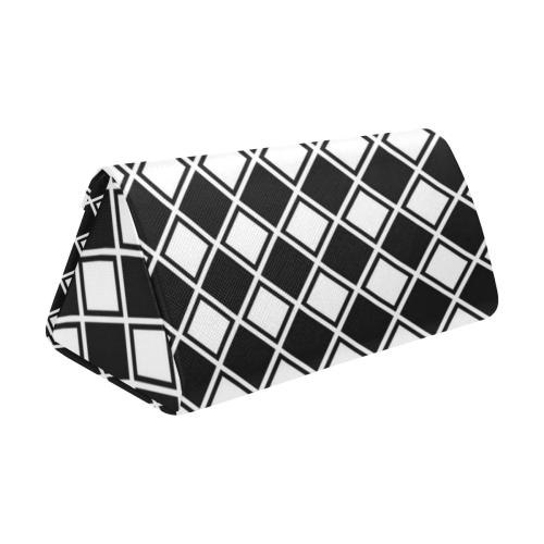 Black And White Diamonds Custom Foldable Glasses Case