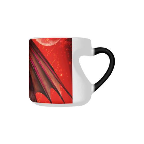 Awesome fantasy creature Heart-shaped Morphing Mug