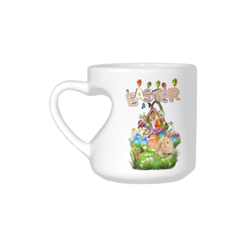 Happy Easter Heart-shaped Mug(10.3OZ)