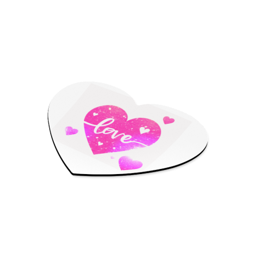 Pink Love Heart Mouse Pad Heart-shaped Mousepad