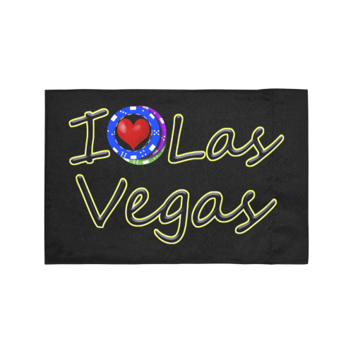 I Love Las Vegas / Black Motorcycle Flag (Twin Sides)