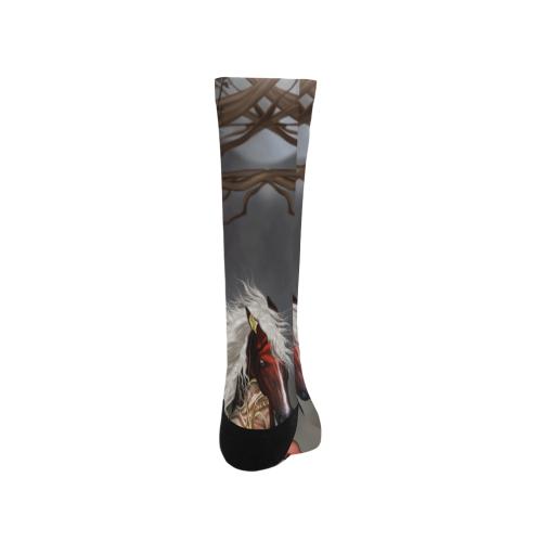 Fantasy horse with fairy Trouser Socks (For Men)