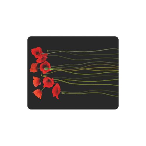 Poppies Floral Design Papaver somniferum Rectangle Mousepad
