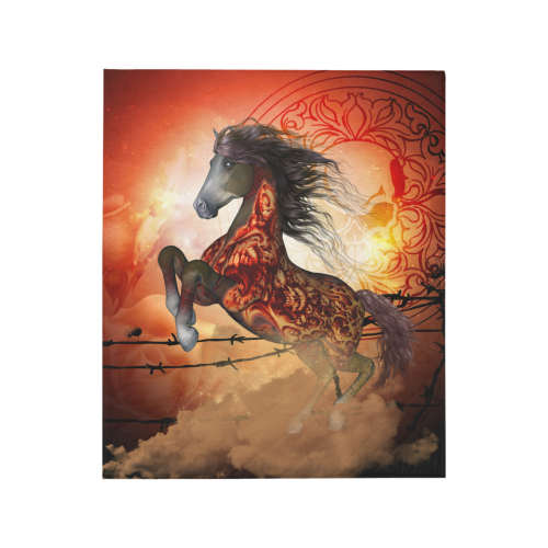 """Awesome creepy horse with skulls Quilt 50""""x60"""""""