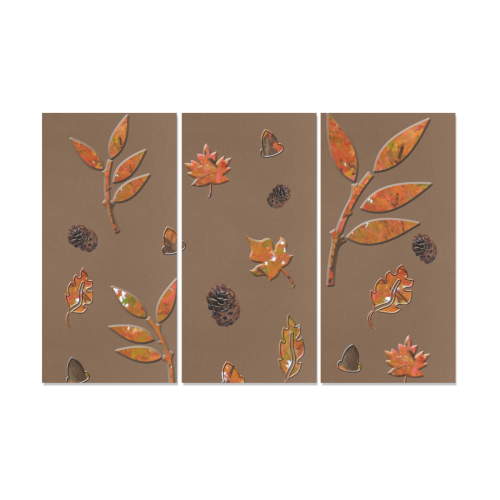 Leaves Pine Cones Canvas Wall Art X (3 pieces)