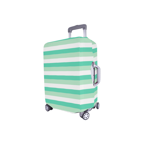 "Mint Stripes Luggage Cover/Small 18""-21"""