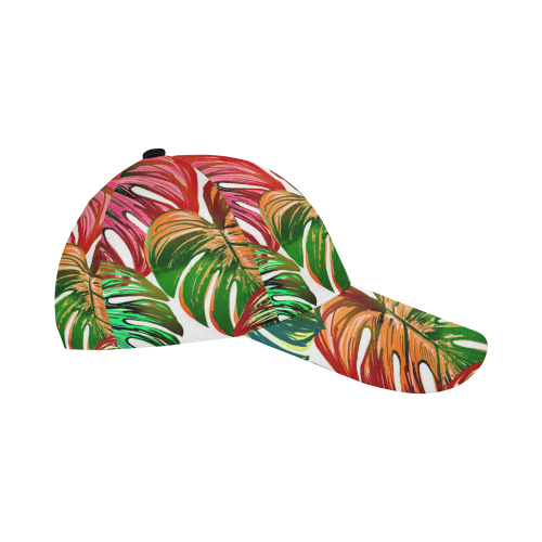 Pretty Leaves D by JamColors All Over Print Dad Cap C (7-Pieces Customization)