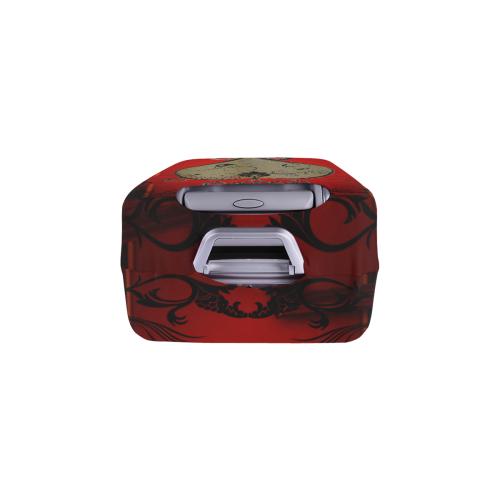 "Wonderful decorative heart Luggage Cover/Medium 22""-25"""