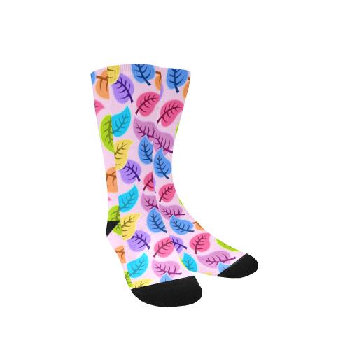 colorful leaves Custom Socks for Women