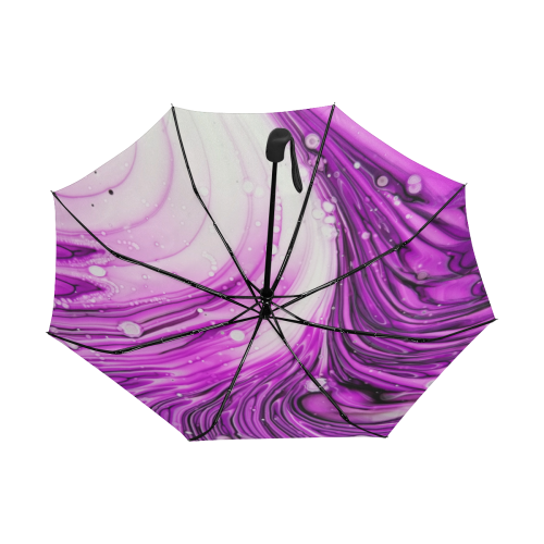 purple swirl. Anti-UV Auto-Foldable Umbrella (Underside Printing) (U06)