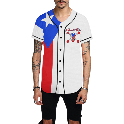 PR BB All Over Print Baseball Jersey for Men (Model T50)