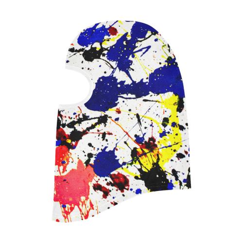Blue & Red Paint Splatter All Over Print Balaclava