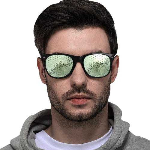 Wonderful flowers, soft green colors Custom Goggles (Perforated Lenses)