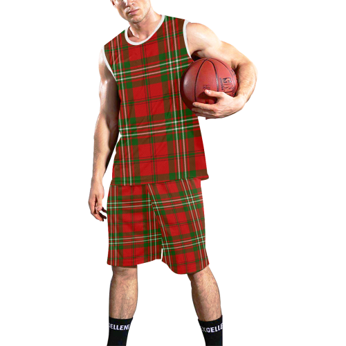 Scott tartan All Over Print Basketball Uniform