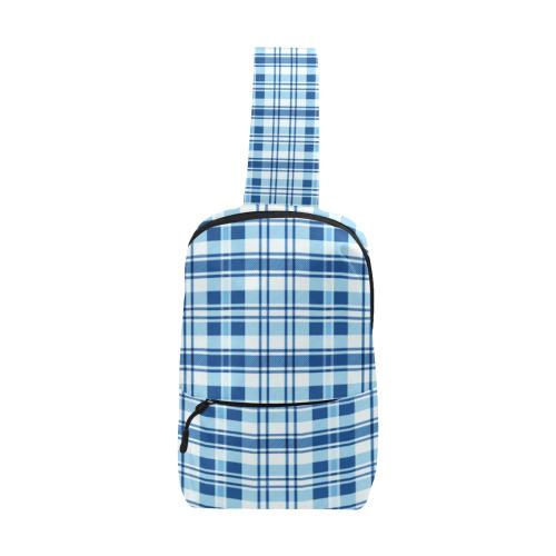 Blue Plaid Chest Bag (Model 1678)