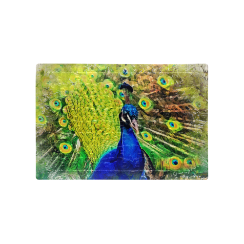 peacock A4 Size Jigsaw Puzzle (Set of 80 Pieces)