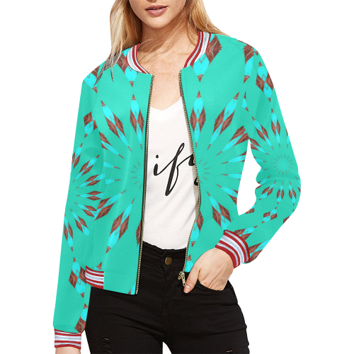drum circle All Over Print Bomber Jacket for Women (Model H21)
