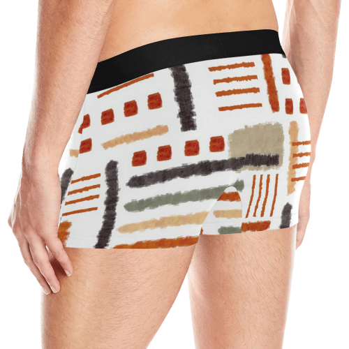 Brush Stroke Abstract Boxers Men's All Over Print Boxer Briefs (Model L10)