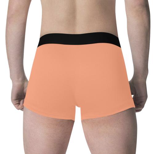 color light salmon Men's All Over Print Boxer Briefs (Model L34)