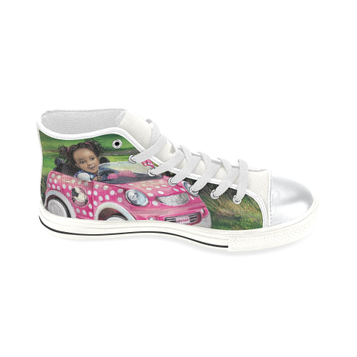 Anaiah's Road Trip Shoe High Top Canvas Shoes for Kid (Model 017)