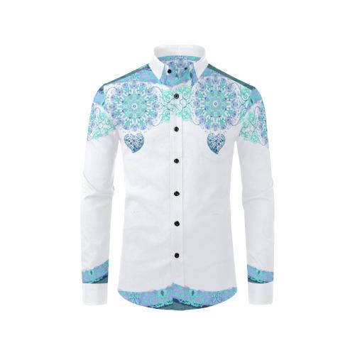 1208 Men's All Over Print Casual Dress Shirt (Model T61)
