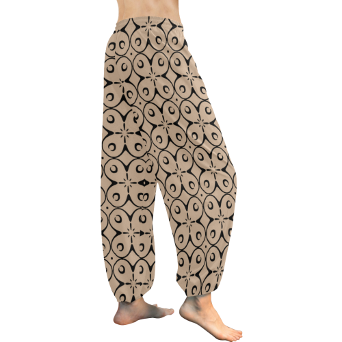 My Lucky Day Hazelnut Women's All Over Print Harem Pants (Model L18)