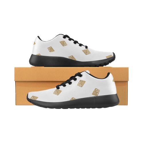 design Blocks : GOLD WITH WHITE Women's Running Shoes (Model 020)