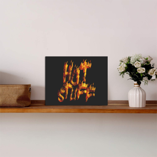 """Flaming HOT STUFF Photo Panel for Tabletop Display 8""""x6"""""""