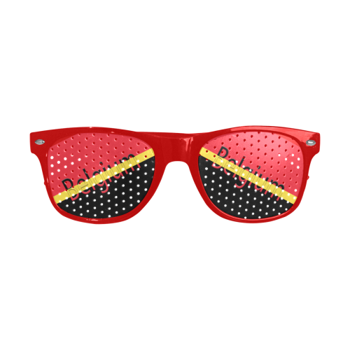 Belgium Flag Custom Goggles (Perforated Lenses)