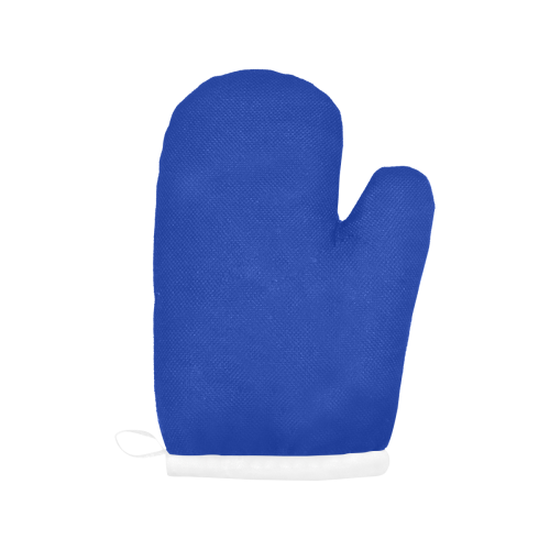 color Egyptian blue Oven Mitt (Two Pieces)