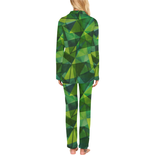texture 2 Women's Long Pajama Set (Sets 02)