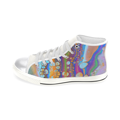 rainbow galaxie high top Women's Classic High Top Canvas Shoes (Model 017)