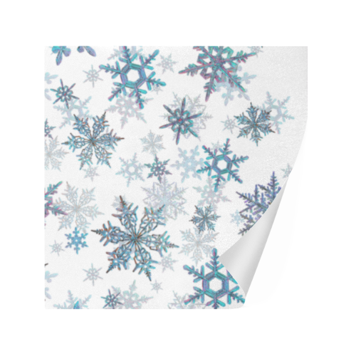 "Snowflakes, Blue snow, Christmas Gift Wrapping Paper 58""x 23"" (5 Rolls)"