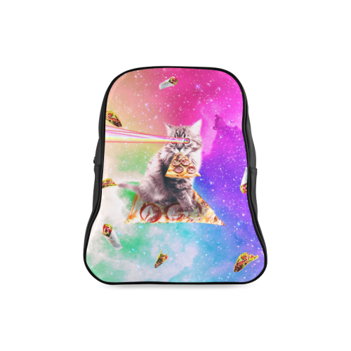 Outer Space Pizza Cat Rainbow Laser Taco Burrito School Backpack Large Model 1601 Id D2563603