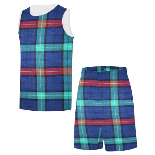 PLAID-420 All Over Print Basketball Uniform