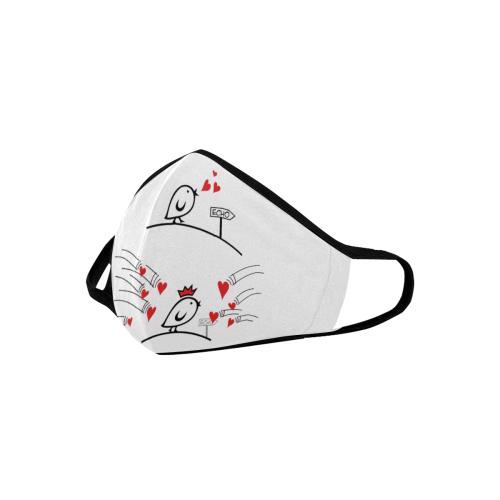 Comic Birds - Tweetlercools - LOVE ECHO 1 Mouth Mask